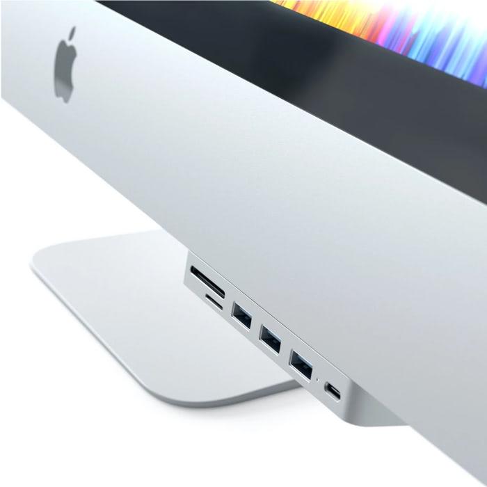 Адаптер SATECHI CLAMP HUB PRO ADAPTER Silver USB-C to USB3 x 3/SD/Micro SD/USB-C ST-TCIMHS