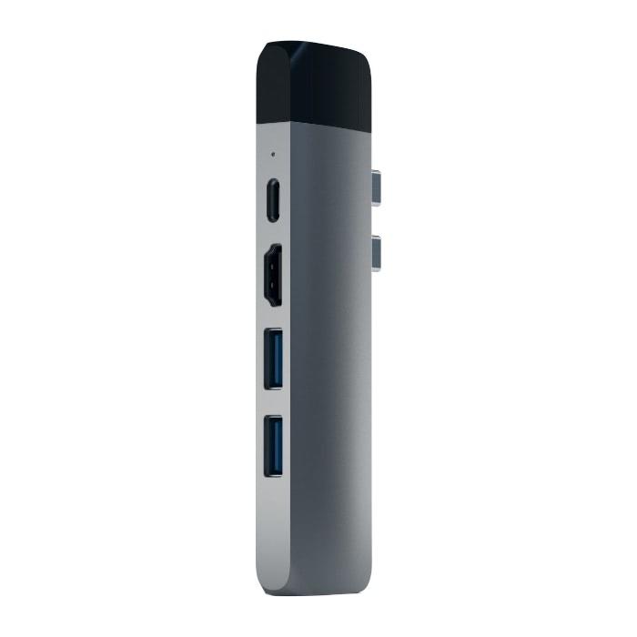 Адаптер Satechi PRO HUB ADAPTER Space Gray USB-C to USB3 x 2/Micr...