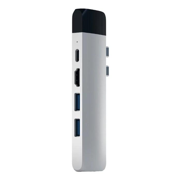 Адаптер Satechi PRO HUB ADAPTER Silver USB-C to USB3 x 2/MicroSD/HDMI 4K/USB-С/Ethernet ST-TCPHES