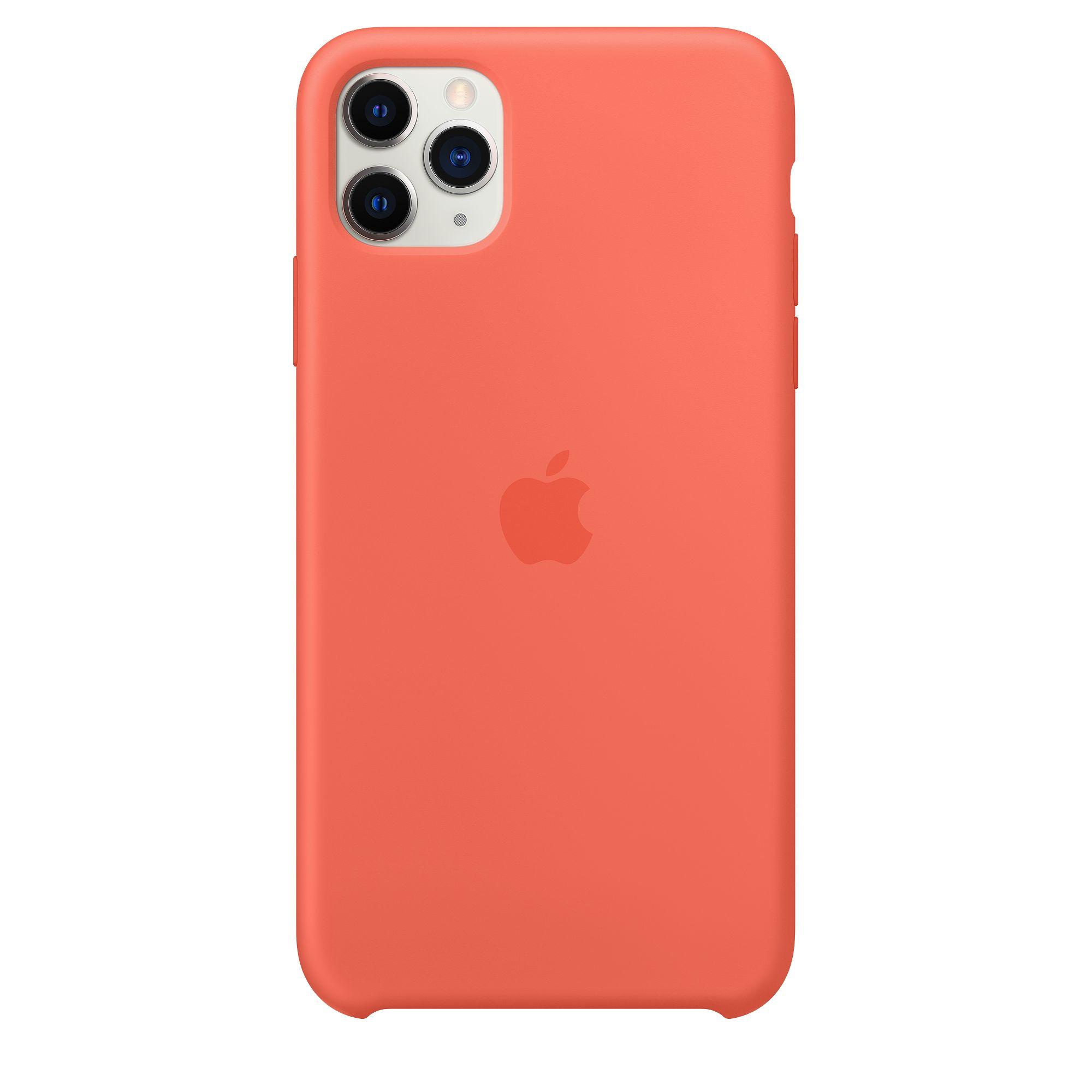 Чехол Apple для iPhone 11 Pro Max Silicone Case Clementine MX022
