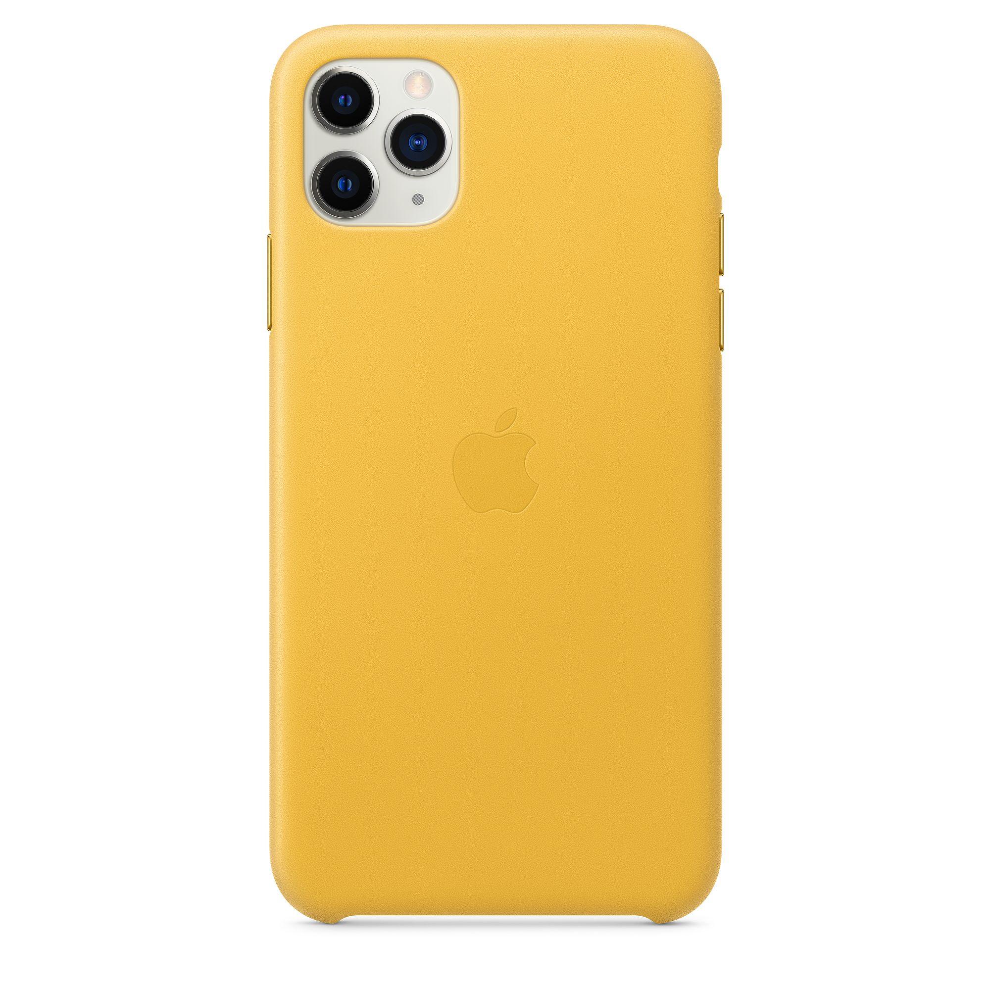 Чехол Apple для iPhone 11 Pro Max Leather Case Meyer Lemon MX0A2