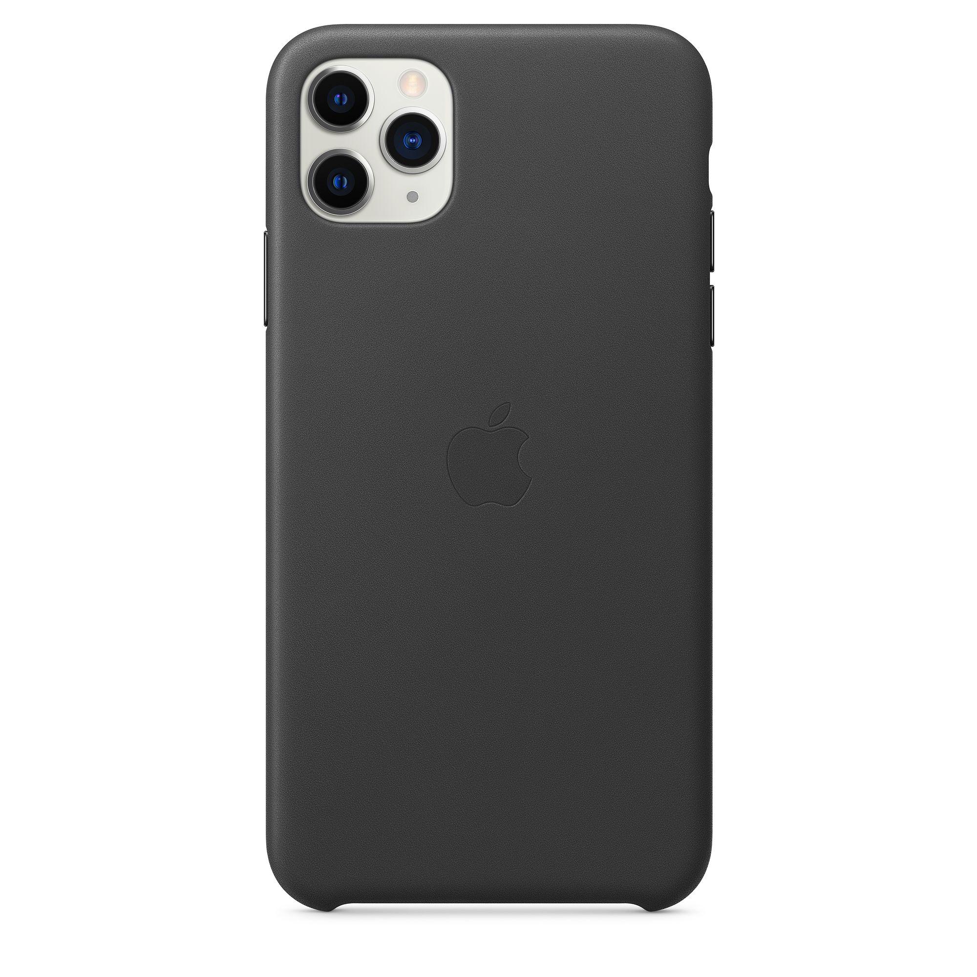 Чехол Apple для iPhone 11 Pro Max Leather Case Black MX0E2