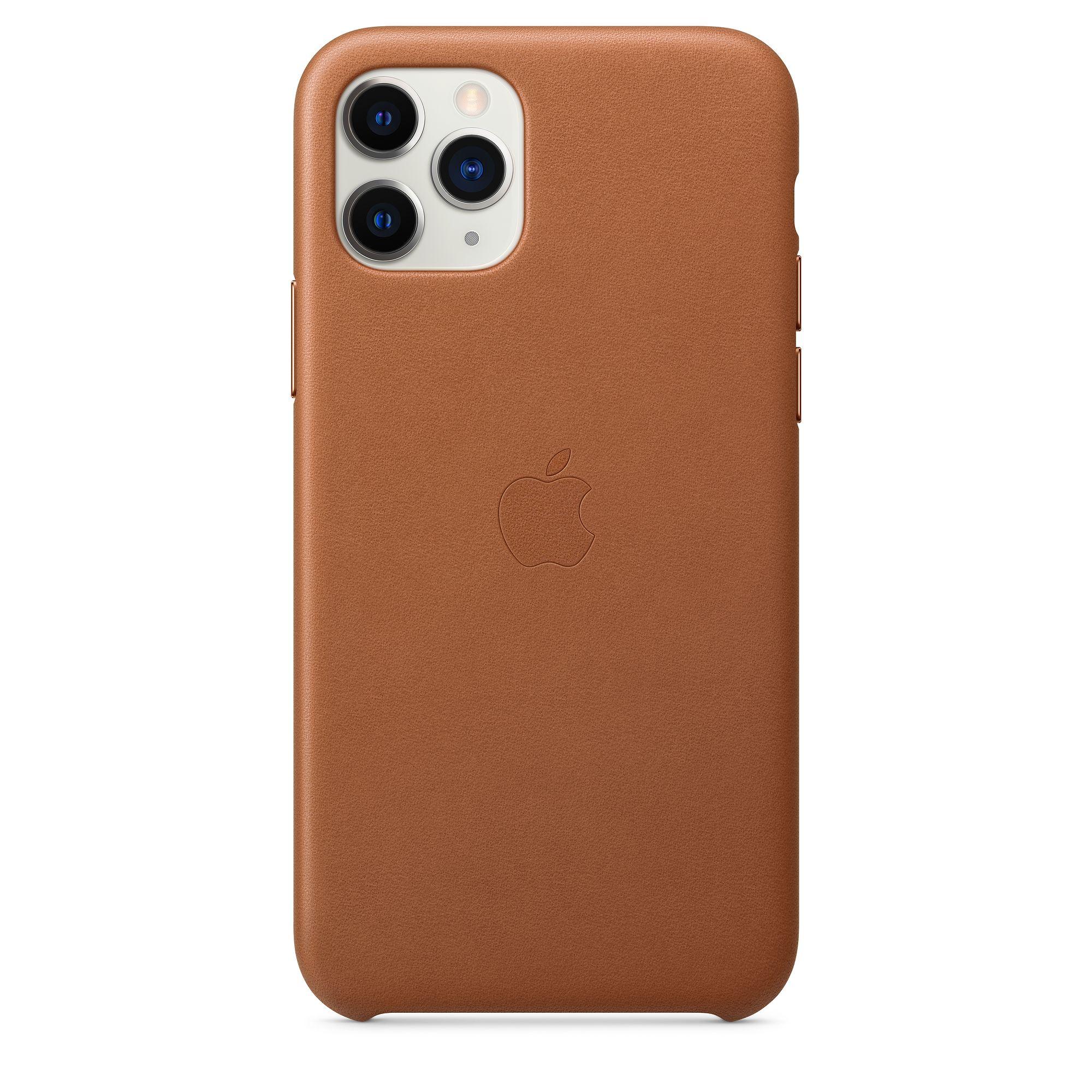 Чехол Apple для iPhone 11 Pro Leather Case Saddle Brown MWYD2