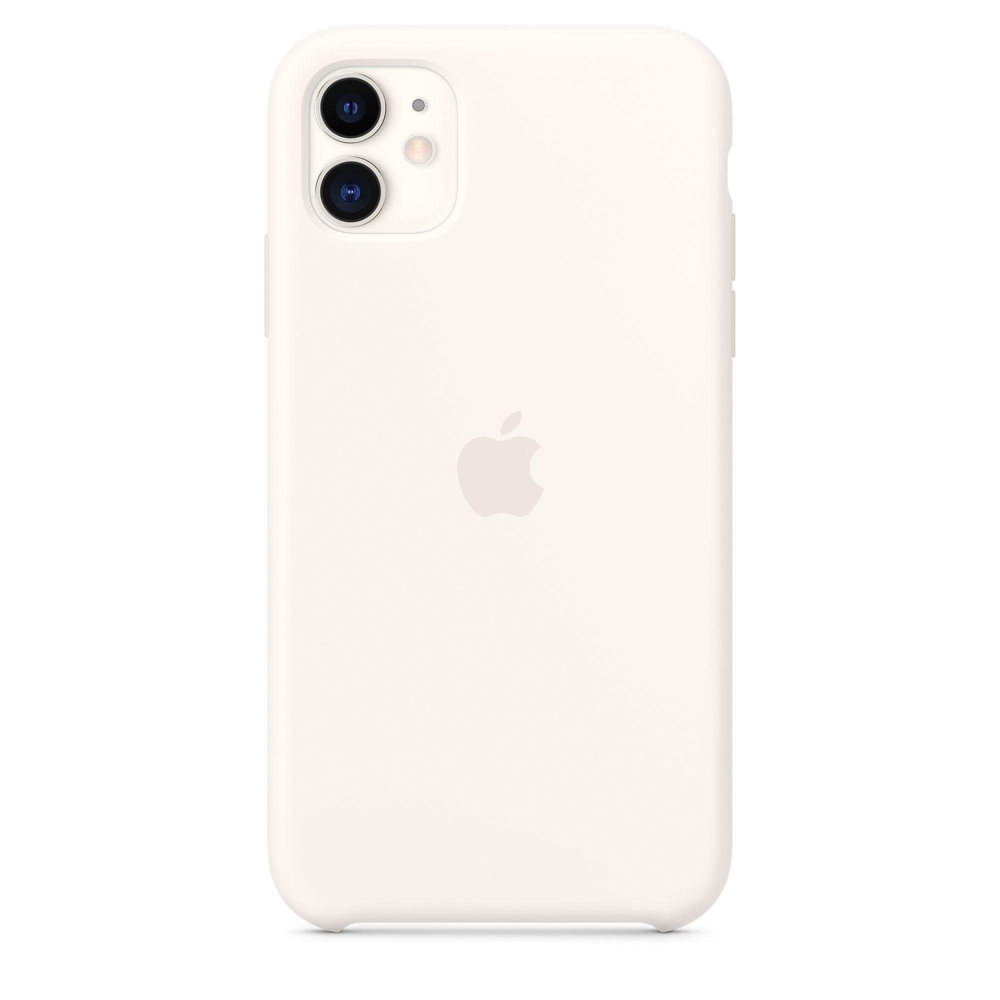 Чехол Apple для iPhone 11 Silicone Case Soft White MWVX2