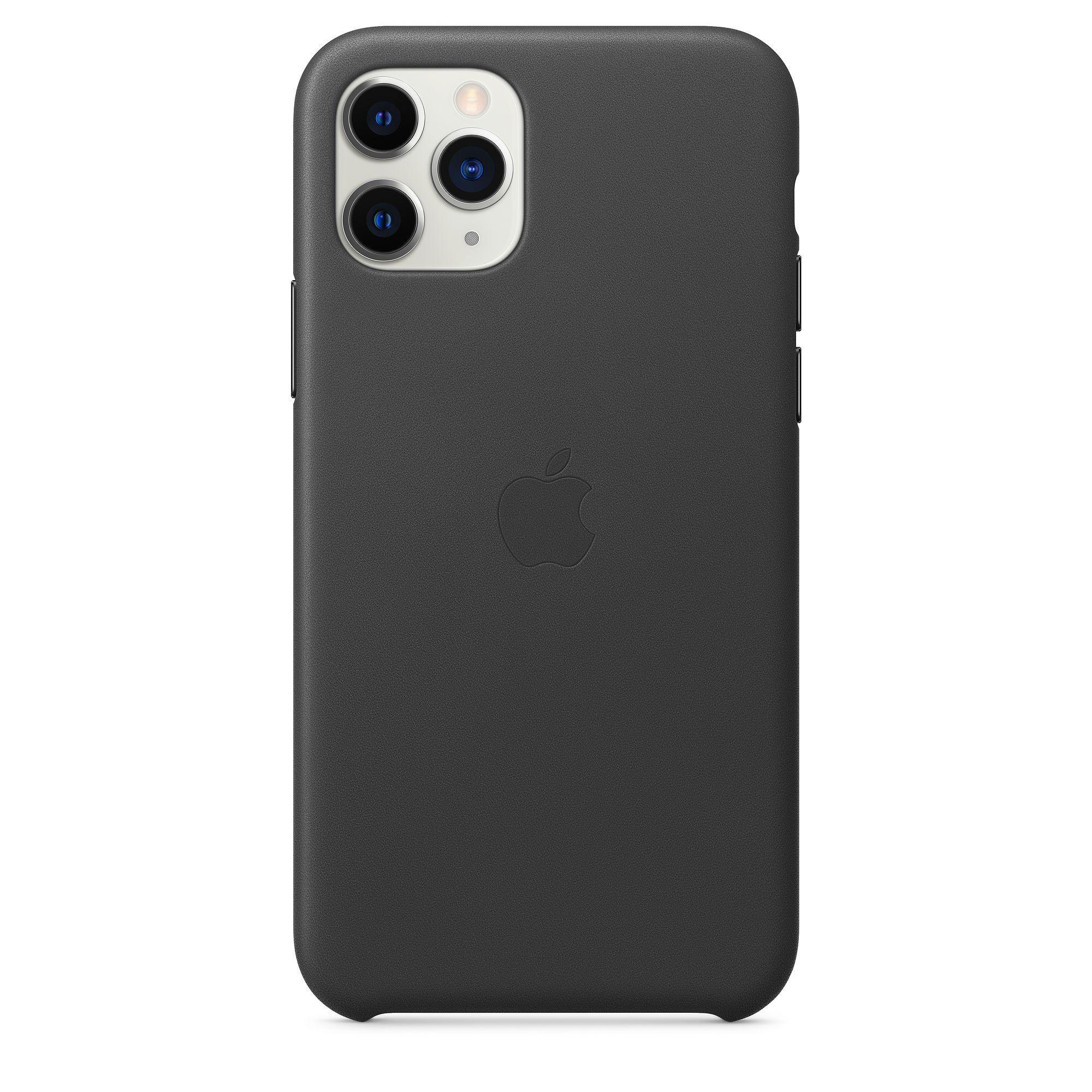 Чехол Apple для iPhone 11 Pro Leather Case Black MWYE2