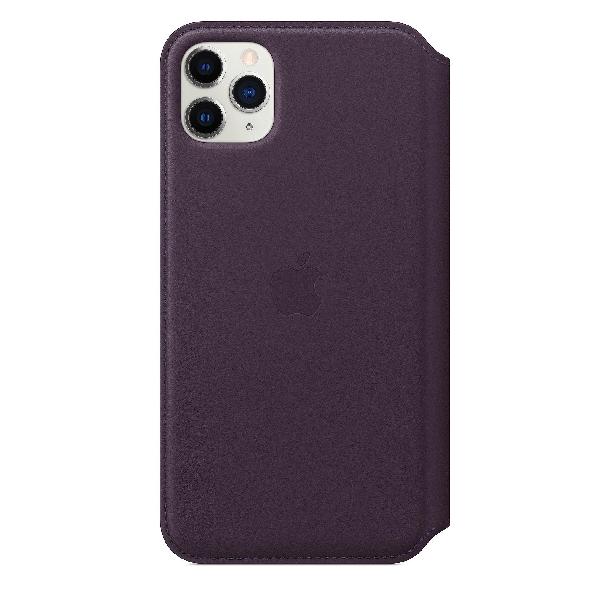 Чехол Apple Leather Folio for iPhone 11 Pro Max Aubergine MX092