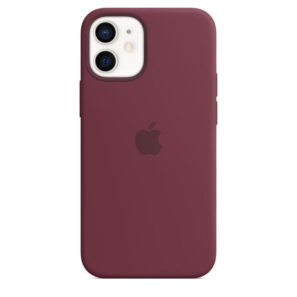 Чехол Apple для iPhone 12 mini Silicone Case with MagSafe Plum MHKQ3
