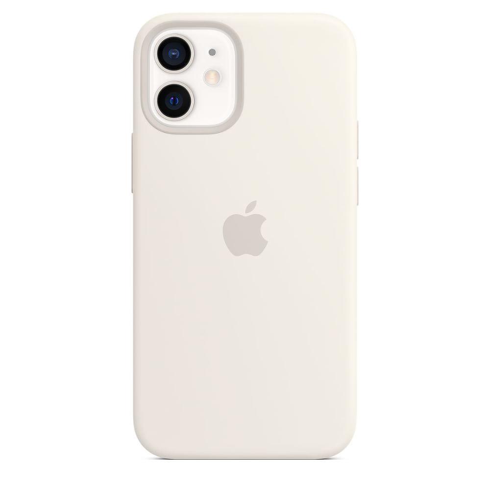 Чехол Apple для iPhone 12 mini Silicone Case with MagSafe White MHKV3