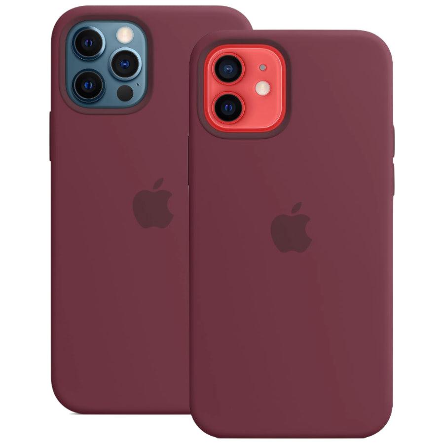 Чехол Apple для iPhone 12 / 12 Pro Silicone Case with MagSafe Plum MHL23