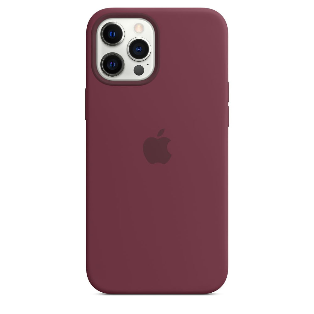 Чехол Apple для iPhone 12 Pro Max Silicone Case with MagSafe Plum MHLA3
