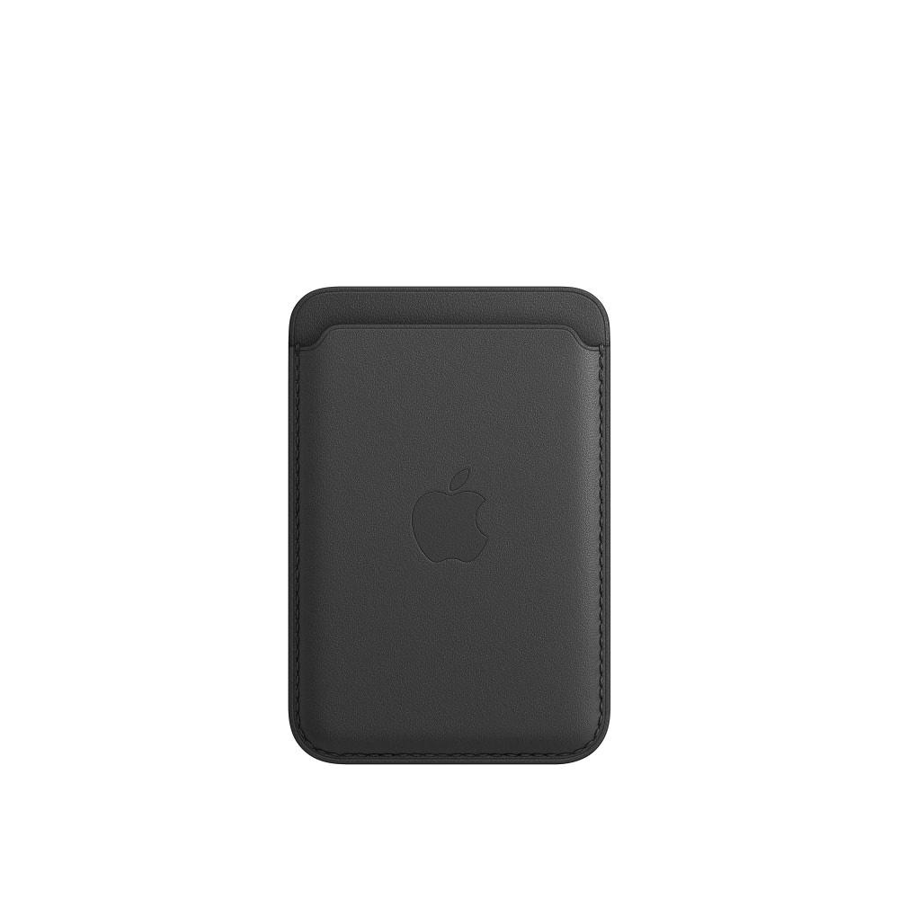 Чехол Apple для iPhone Leather Wallet with MagSafe Black MHLT3