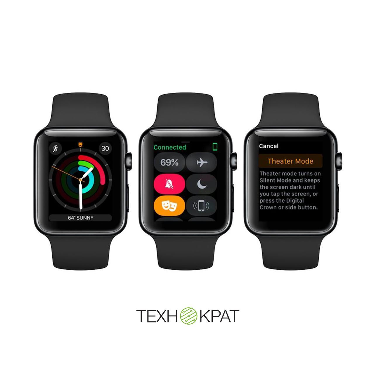 Режим «Театр» на Apple Watch 🎭