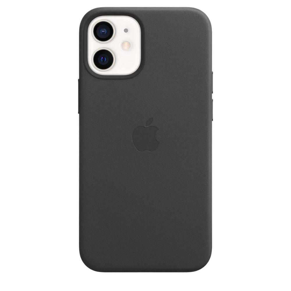 Чехол Apple для iPhone 12 mini Leather Case with MagSafe Black MHKA3
