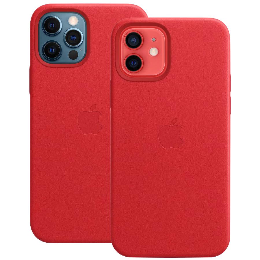 Чехол Apple для iPhone 12 / 12 Pro Leather Case with MagSafe (PR...