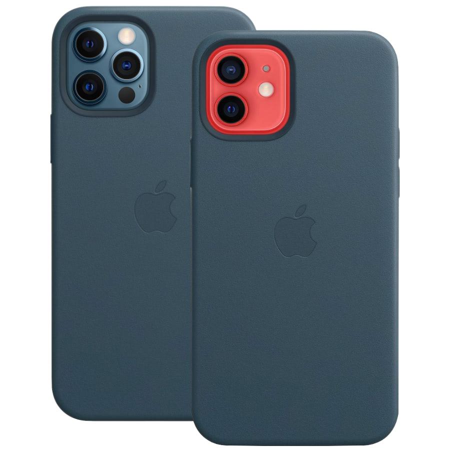 Чехол Apple для iPhone 12 / 12 Pro Leather Case with MagSafe Baltic Blue MHKE3