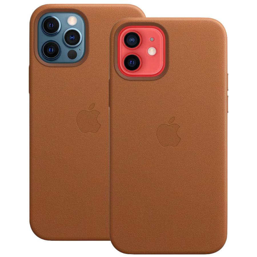 Чехол Apple для iPhone 12 / 12 Pro Leather Case with MagSafe Saddle Brown MHKF3