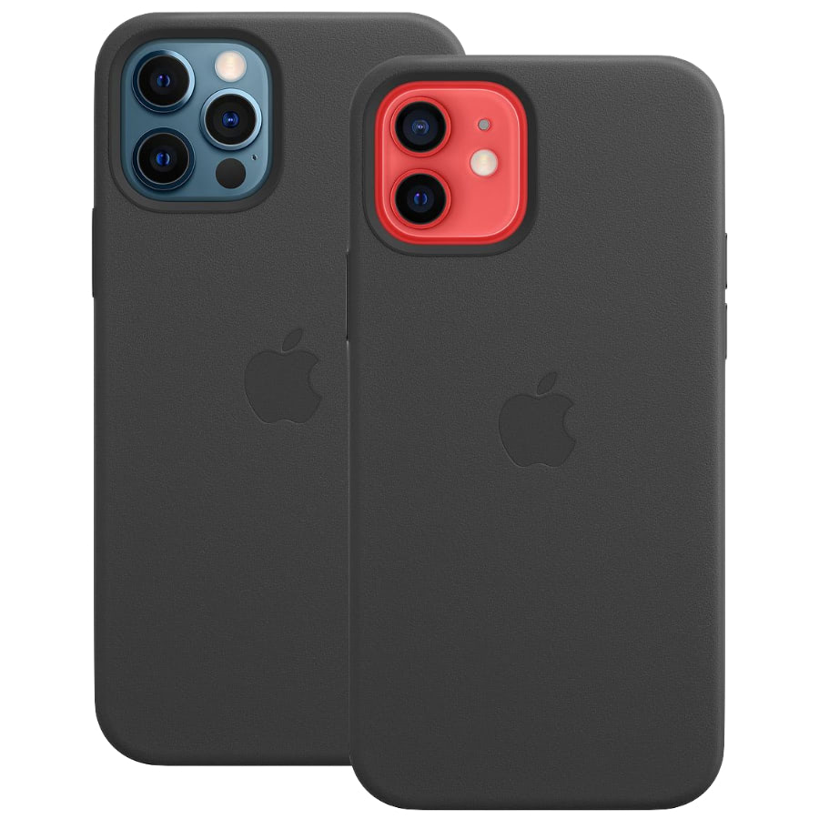 Чехол Apple для iPhone 12 / 12 Pro Leather Case with MagSafe Black MHKG3
