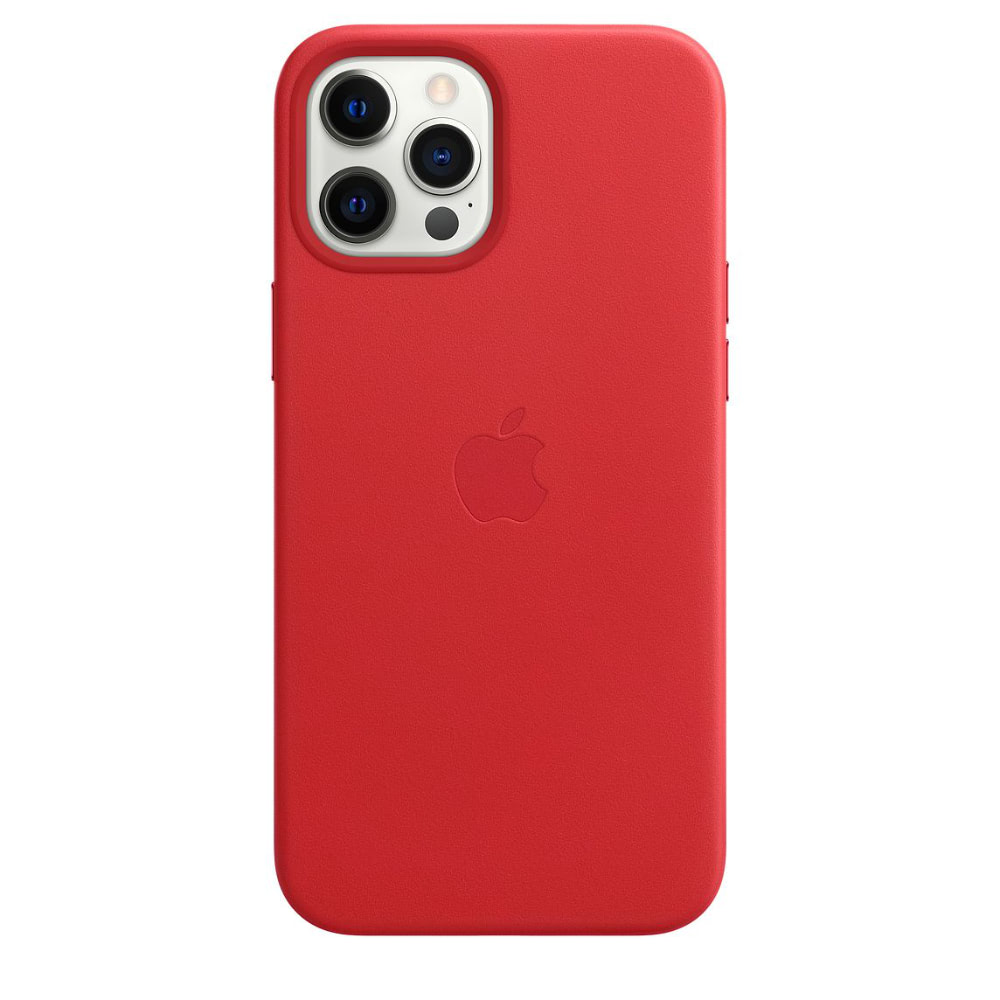 Чехол Apple для iPhone 12 Pro Max Leather Case with MagSafe (PRODUCT)RED MHKJ3