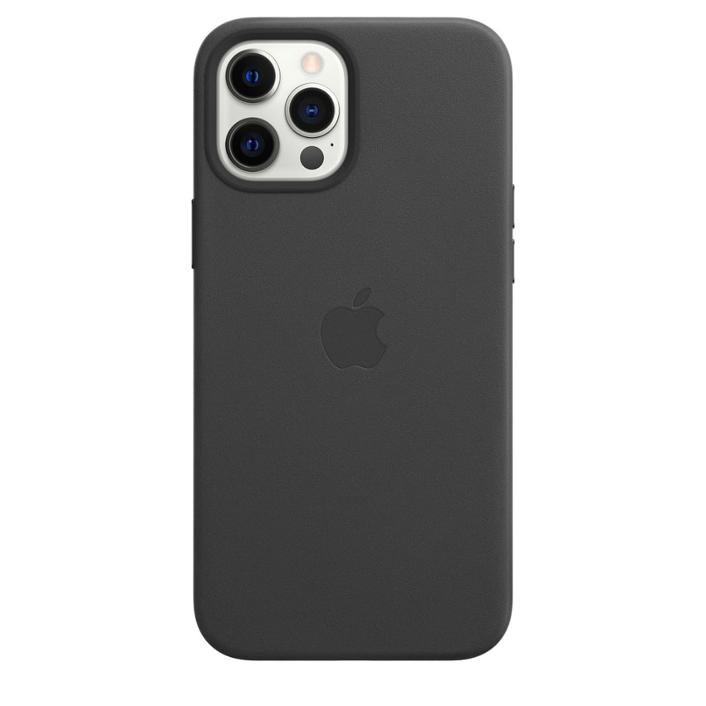 Чехол Apple для iPhone 12 Pro Max Leather Case with MagSafe Blac...