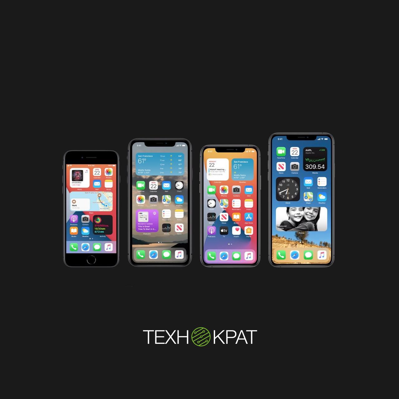 Використання віджетів на iPhone